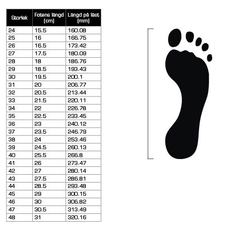 adidas storleksguide skor barn